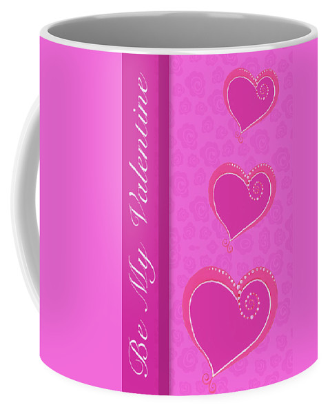 Sweet Coffee Mug featuring the mixed media Sweet Pink Valentines IIi by Andi Metz