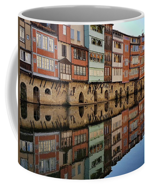 Reflection Coffee Mug featuring the photograph Tanners' Houses On The Agout by Michael Briley