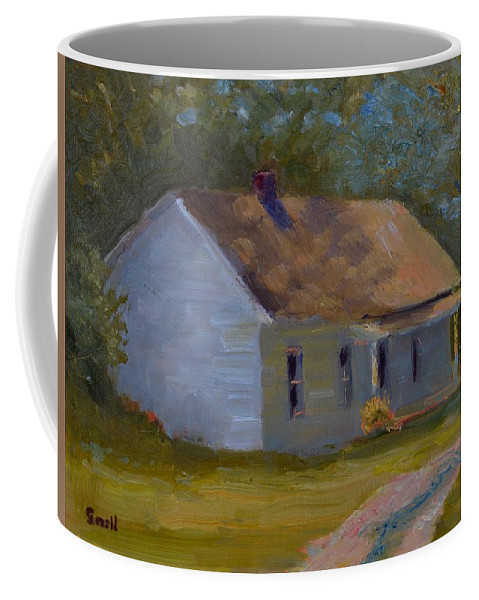 Kentucky Coffee Mug featuring the painting Tay's Cottage by Roger Snell