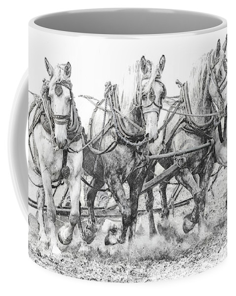 Alberta Coffee Mug featuring the photograph Team Work 2 by Brad Allen Fine Art