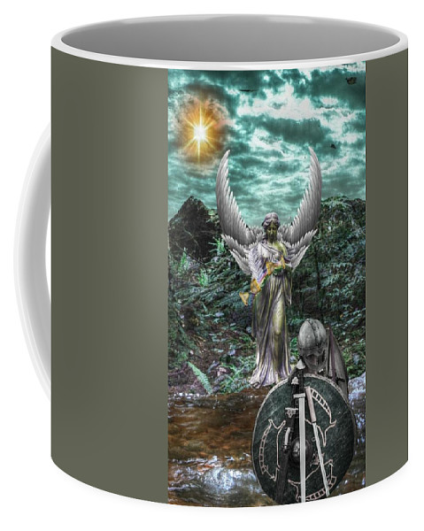 Coffee Mug featuring the digital art Temperance by Zoe Kelly