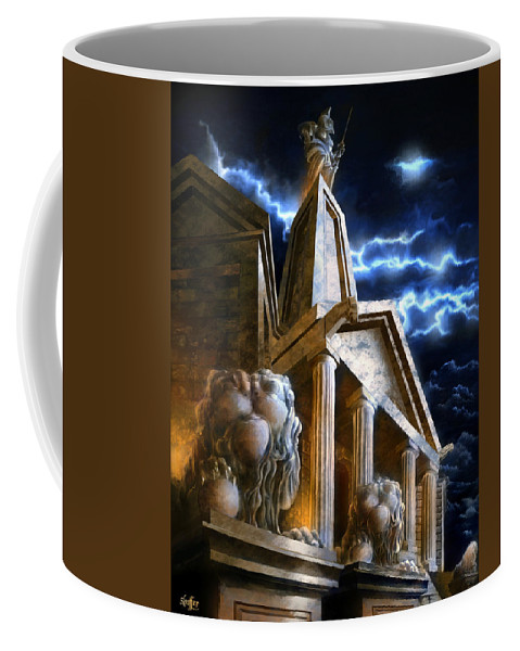 Hercules Coffee Mug featuring the mixed media Temple Of Hercules In Kassel by Curtiss Shaffer