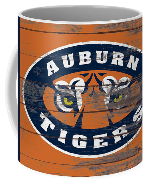 Auburn Tigers Coffee Mug featuring the mixed media The Auburn Tigers 5b by Brian Reaves