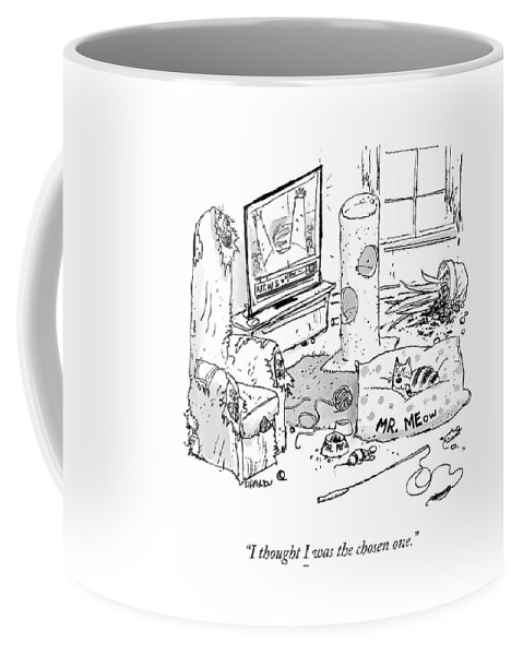 I Thought I Was The Chosen One. Coffee Mug featuring the drawing The Chosen One by Tim Hamilton