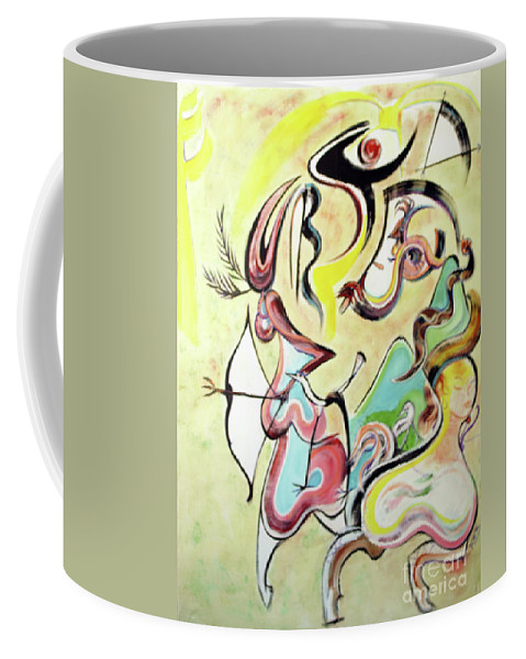 Female Coffee Mug featuring the painting The Hunt by Robert Wade