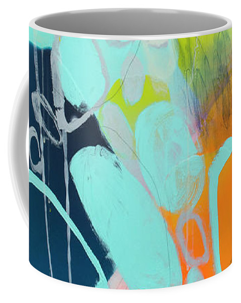 Abstract Coffee Mug featuring the painting The Right Thing by Claire Desjardins