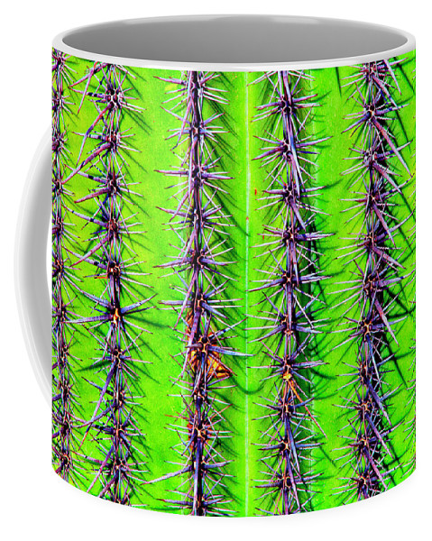 United States Coffee Mug featuring the digital art The Spines Of The Cactus by Christopher Eng-Wong