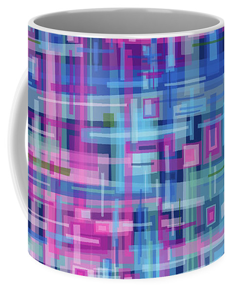 Nonobjective Coffee Mug featuring the digital art Thought Patterns #4 by James Fryer