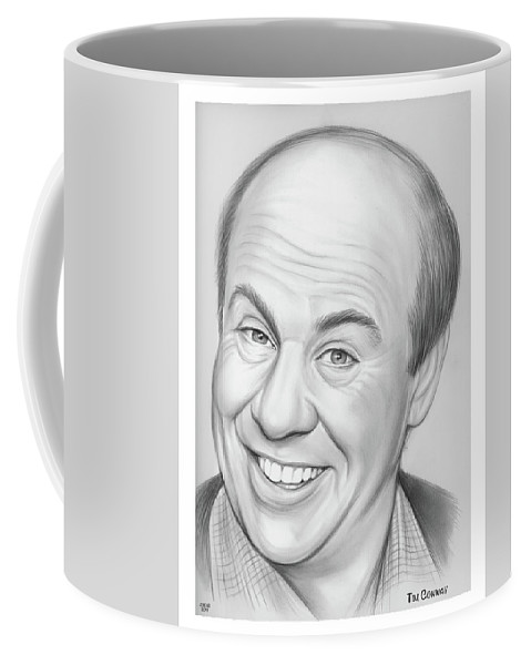 Tim Conway Coffee Mug featuring the drawing Tim Conway by Greg Joens