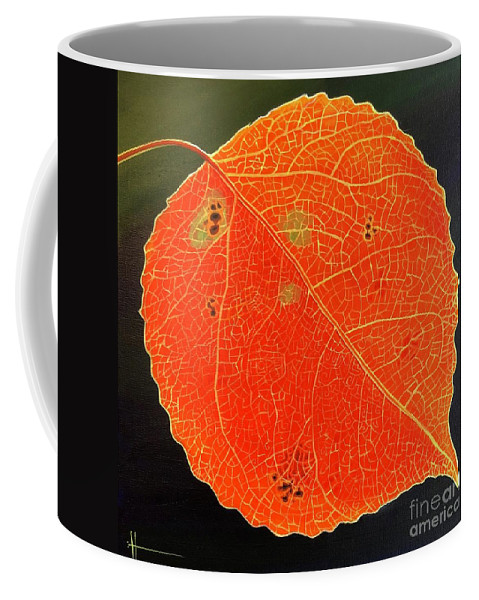 Aspen Coffee Mug featuring the painting Tomorrow Started by Hunter Jay