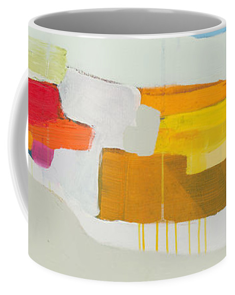 Abstract Coffee Mug featuring the painting Towards The Ocean by Claire Desjardins