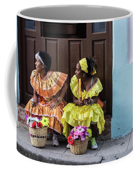 Cuba Coffee Mug featuring the photograph Traditional Meets Modern by Jennifer Thomas