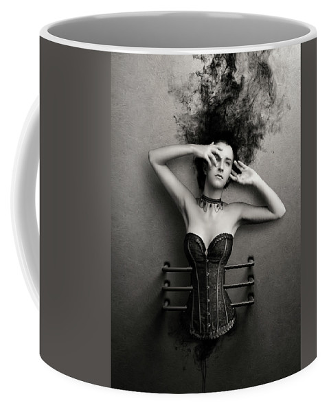 Woman Coffee Mug featuring the photograph Trapped by Johan Swanepoel