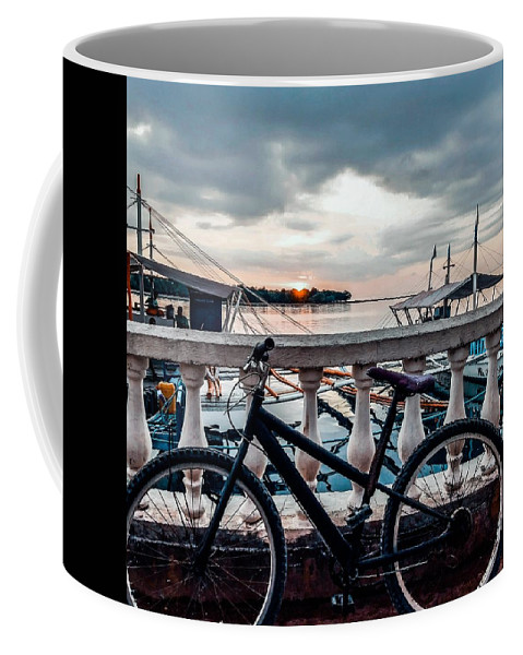 Bike Coffee Mug featuring the photograph Traveller's point by Dynz Abejero