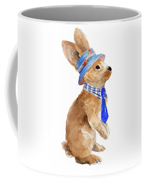 Trendy Coffee Mug featuring the painting Trendy Meadow Buddy I (tie) by Lanie Loreth