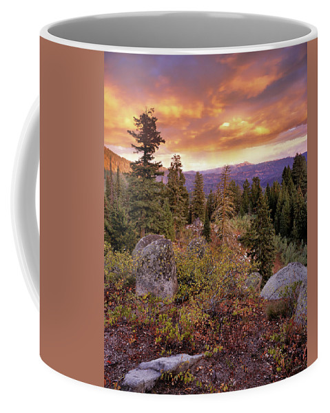 Trinity Mountains Coffee Mug featuring the photograph Trinity Mountains by Leland D Howard