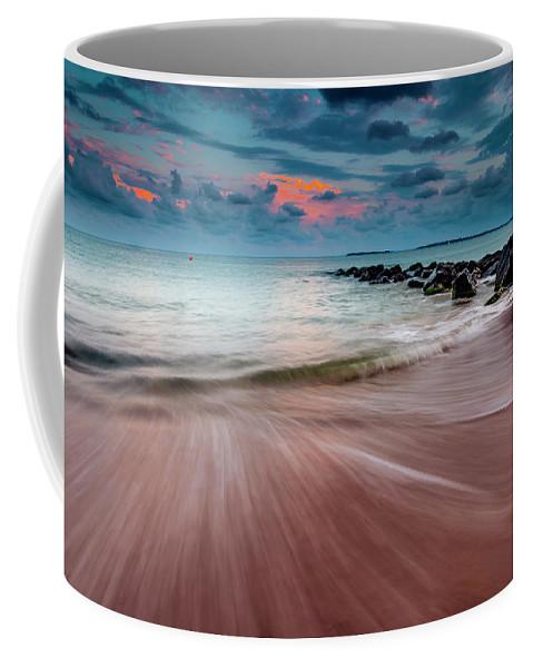 Beach Coffee Mug featuring the photograph Tropic Sky by Evgeni Dinev