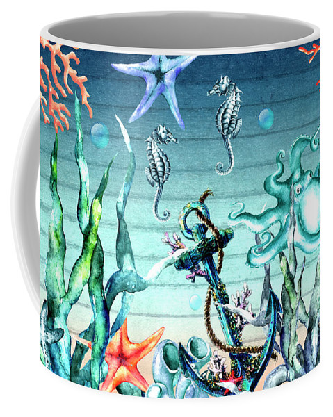 Sea Life Coffee Mug featuring the digital art Tropical Island by Mark Ashkenazi