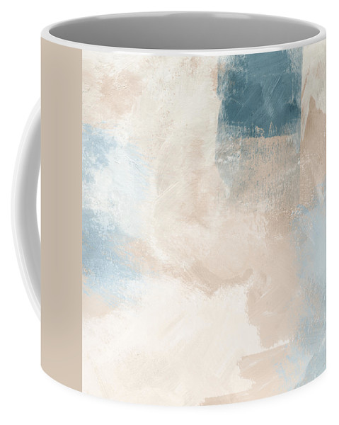 Abstract Coffee Mug featuring the painting Twilight Blue 2- Art By Linda Woods by Linda Woods