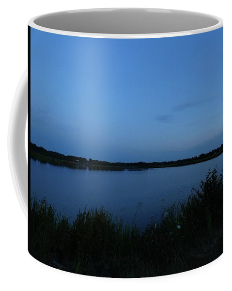 Twilight Coffee Mug featuring the photograph Twilight On The Lake by Ingrid Huetten