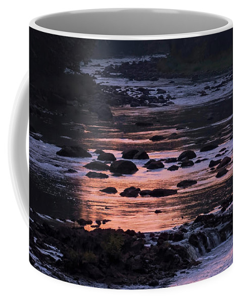 River Coffee Mug featuring the photograph Twilight River by Jerry LoFaro