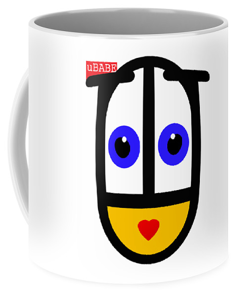 Ubabe Face Coffee Mug featuring the digital art uBABE Logo by Ubabe Style
