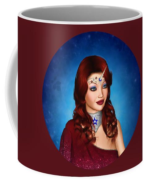 Unicorn Coffee Mug featuring the digital art Unicorn Princess Adoria by Dkate Smith