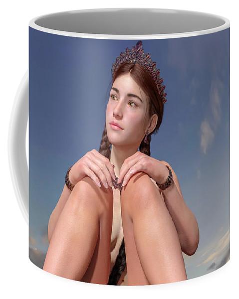 Girl Coffee Mug featuring the digital art Untitled 02192019 by Betsy Knapp
