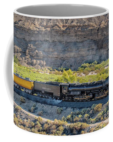 Afton Canyon Coffee Mug featuring the photograph Up4014 Big Boy 1 by Jim Thompson