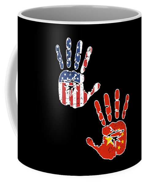 Usa Handprint Roots Descendents Coffee Chinese Culture Flag Mug American Biracial China Heritage Proud E9YbWDHIe2