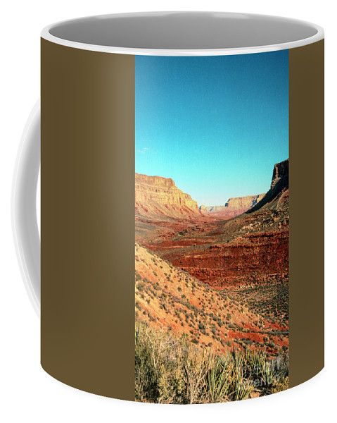 Desert Coffee Mug featuring the photograph View from the Hilltop by Kathy McClure