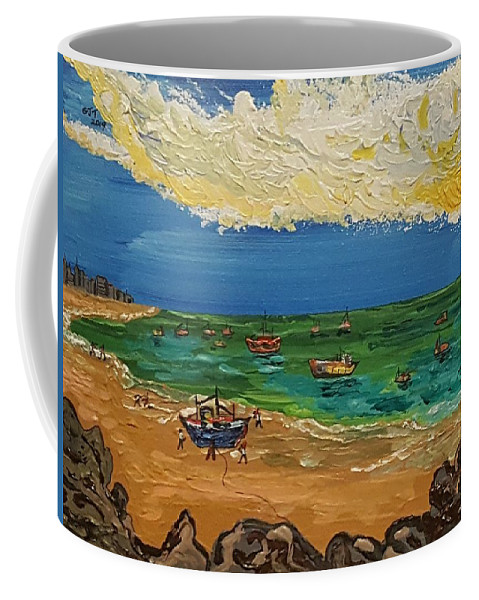 Quintus Curtius Coffee Mug featuring the painting View of Fortaleza by Quintus Curtius