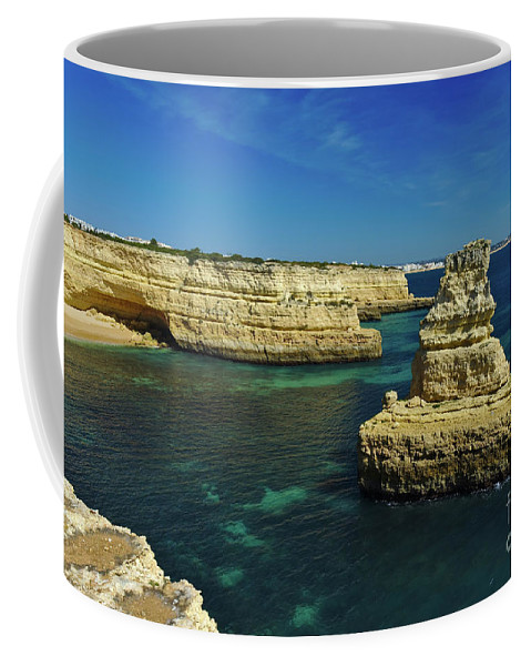 Deserta Coffee Mug featuring the photograph View Of Praia Deserta In Algarve by Angelo DeVal