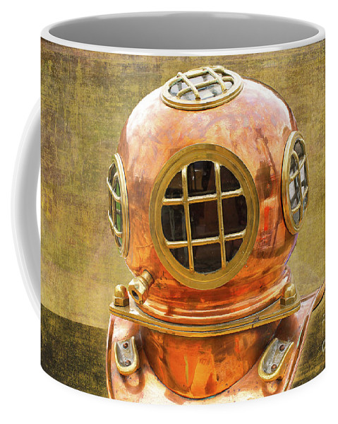 Vintage Coffee Mug featuring the photograph Vintage Diving Helmet by Nina Silver