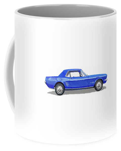 Automobile Coffee Mug featuring the drawing Vintage Ford Mustang - Dwp3864868 by Dean Wittle