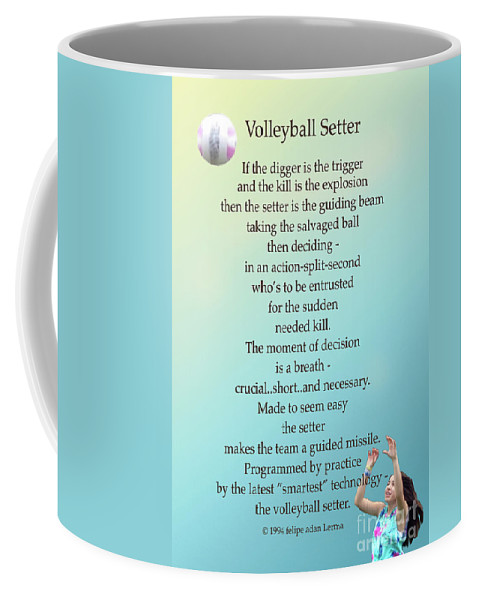 Volleyball Setter Poster Coffee Mug featuring the photograph Volleyball Setter Poster by Felipe Adan Lerma