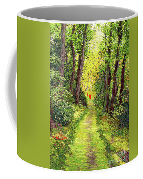 Meditation Coffee Mug featuring the painting Walking Meditation by Jane Small