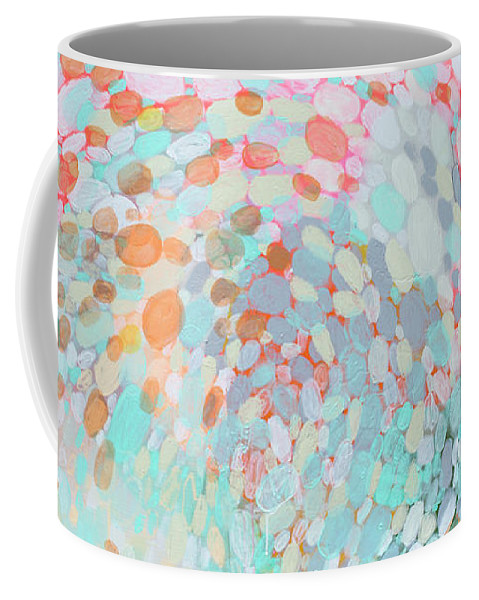 Abstract Coffee Mug featuring the painting Want To Go by Claire Desjardins