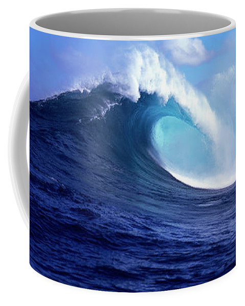 Photography Coffee Mug featuring the photograph Waves Splashing In The Sea, Maui by Panoramic Images