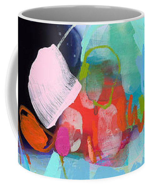 Abstract Coffee Mug featuring the painting West Coast Wanderlust by Claire Desjardins