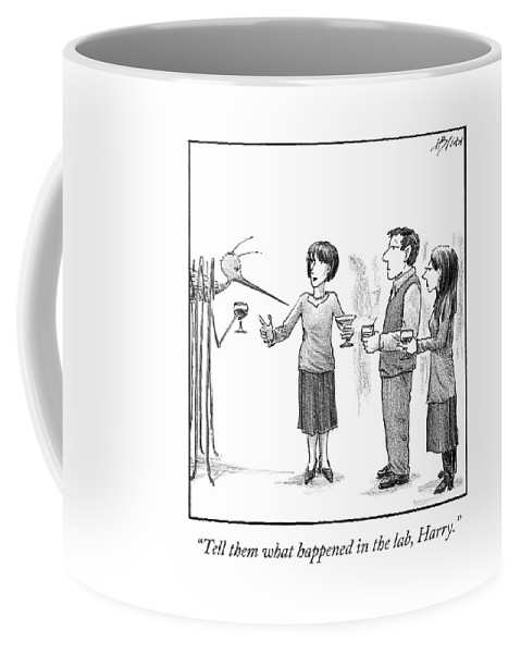 Cctk Coffee Mug featuring the drawing What Happened In The Lab by Harry Bliss