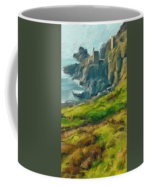 Ipad Coffee Mug featuring the digital art Wheal Bottallack by Scott Waters