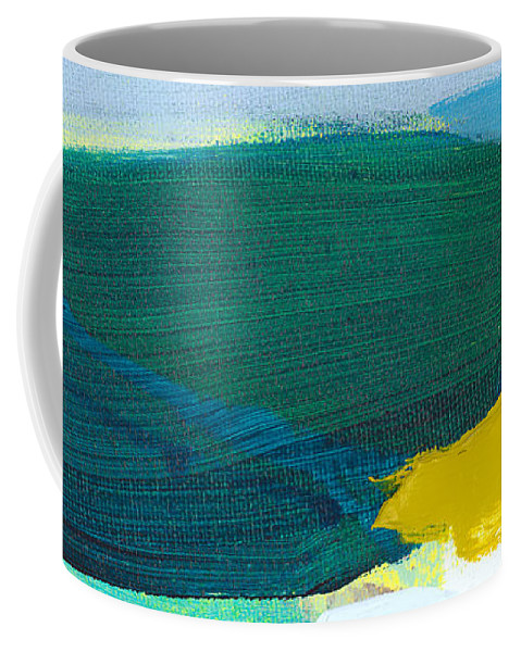 Abstract Coffee Mug featuring the painting When Winter Melts Away by Claire Desjardins