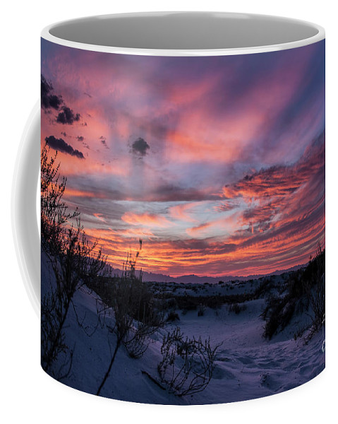 Coffee Mug featuring the photograph White Sand Sunset by Francis Lavigne-Theriault
