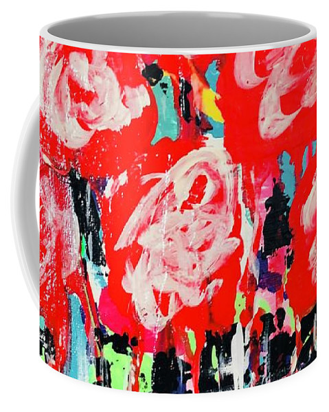 Roses Coffee Mug featuring the mixed media Wild Rose by Shay Livenspargar