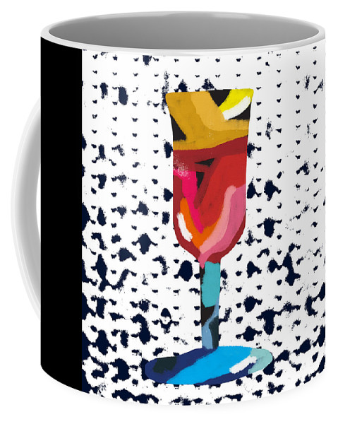 Wine Coffee Mug featuring the mixed media Wine And Matzo- Art By Linda Woods by Linda Woods
