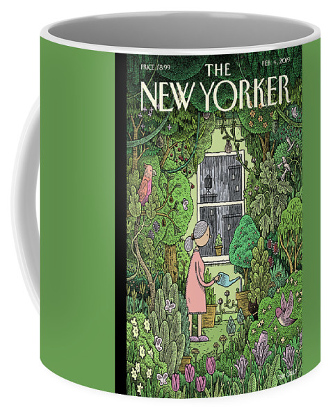 Winter Garden Coffee Mug featuring the painting Winter Garden by Tom Gauld