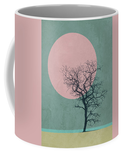 Tree Coffee Mug featuring the mixed media Winter Tree by Naxart Studio