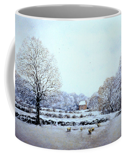 Greeting Card Coffee Mug featuring the painting Winter Walk by Rosemary Colyer