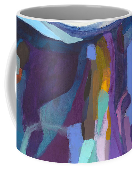 Abstract Coffee Mug featuring the painting With Grace by Claire Desjardins